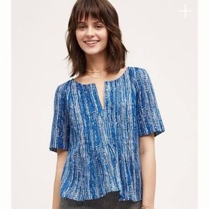 Anthropologie Meave Island Orchid Blouse Size 2